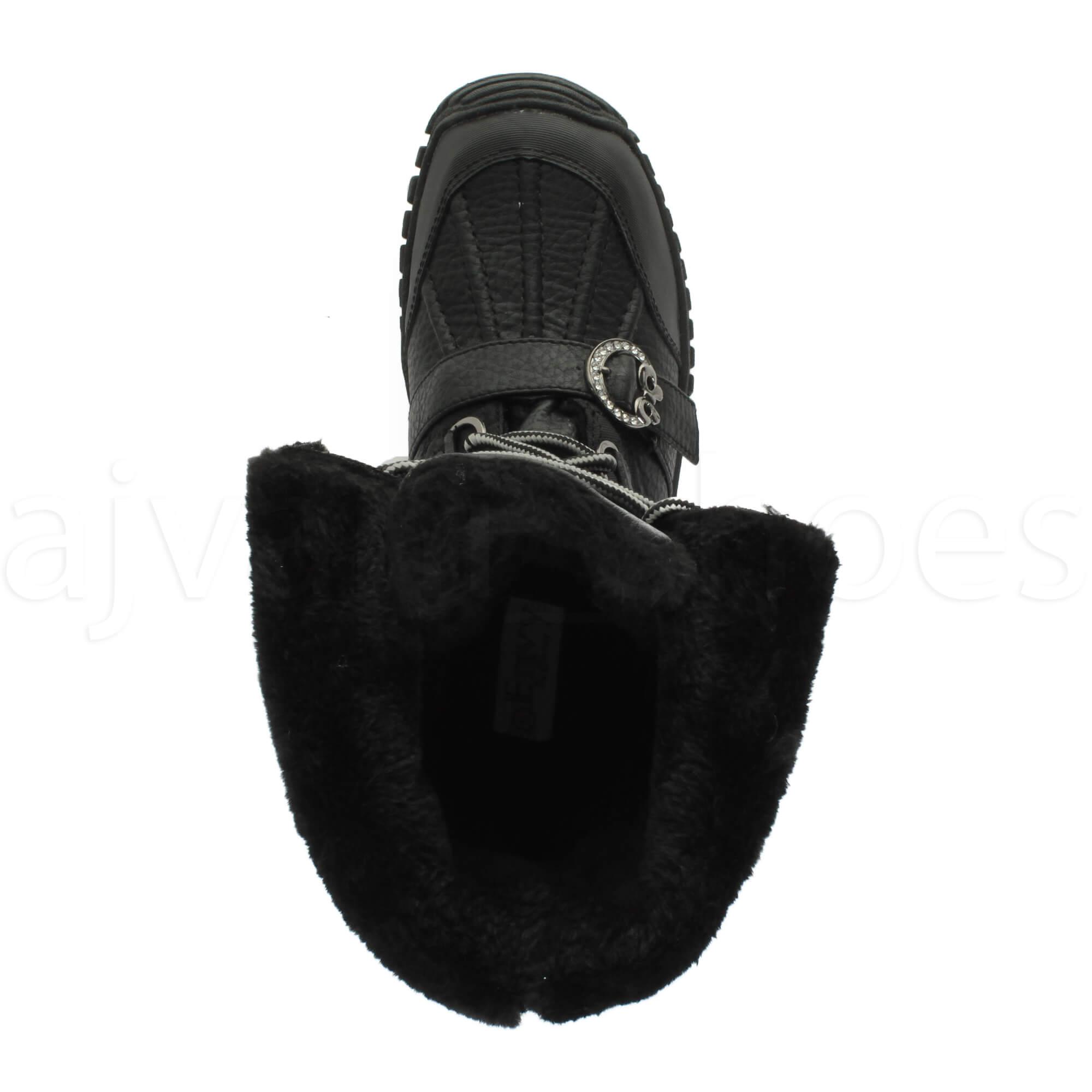 Mujer-tacon-bajo-nieve-invierno-con-cordones-botas-medios-de-cana-botines-talla