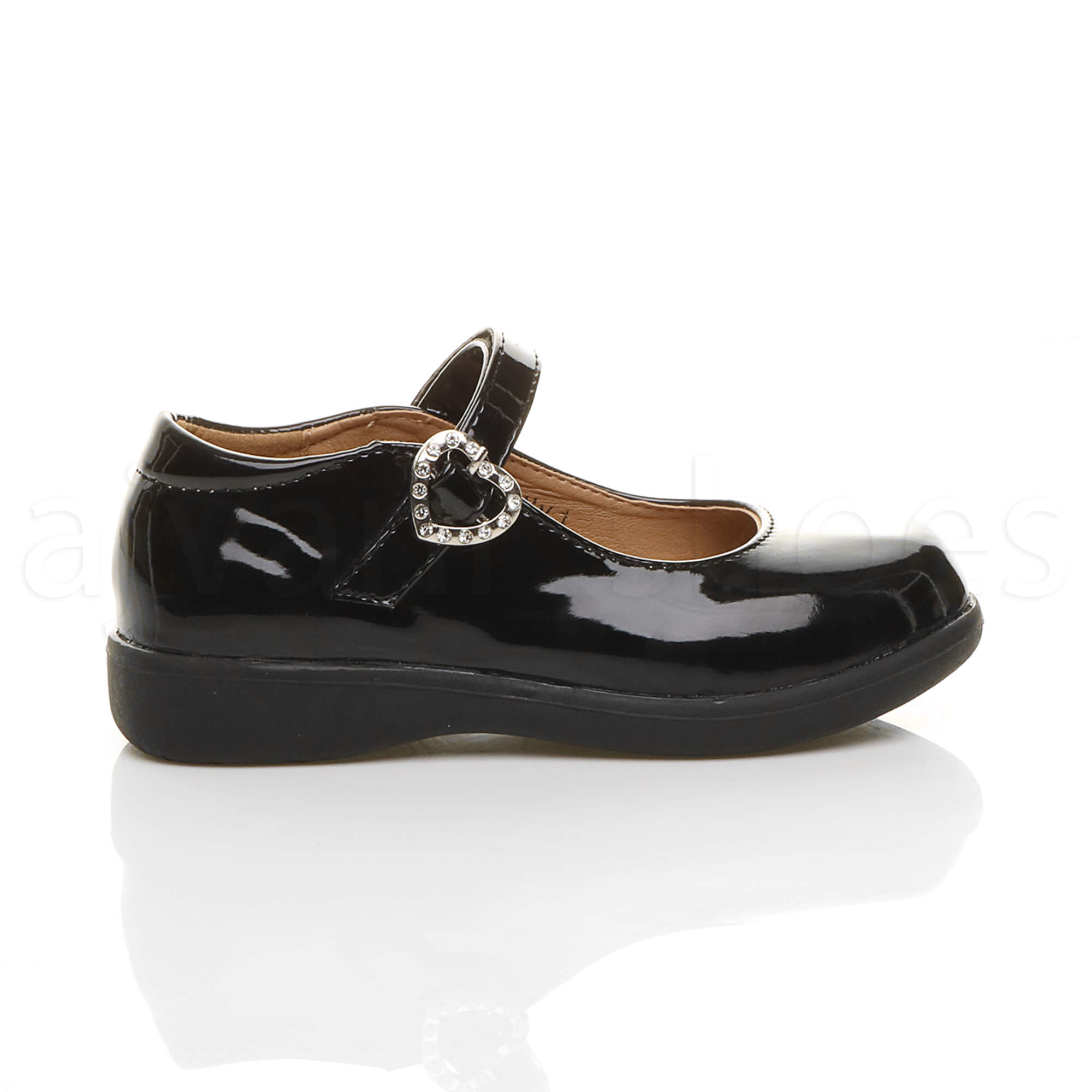 GIRLS KIDS CHILDRENS FLAT LOW HEEL MARY JANE STRAP BUCKLE SMART SHOES SIZE