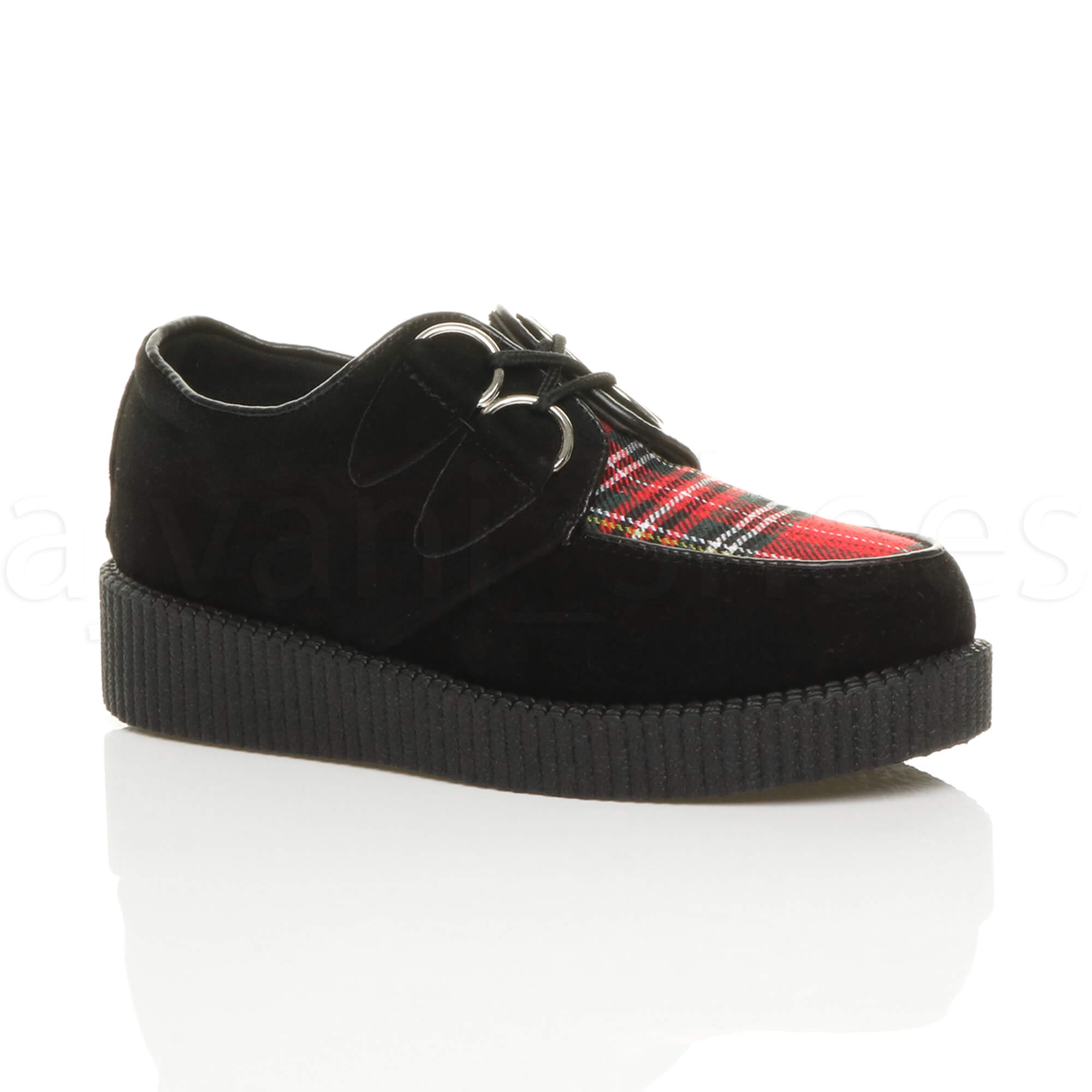Para-Mujer-Damas-Plana-Plataforma-Cuna-lazada-Goth-Punk-Creepers-Zapatos-Botas-Talla