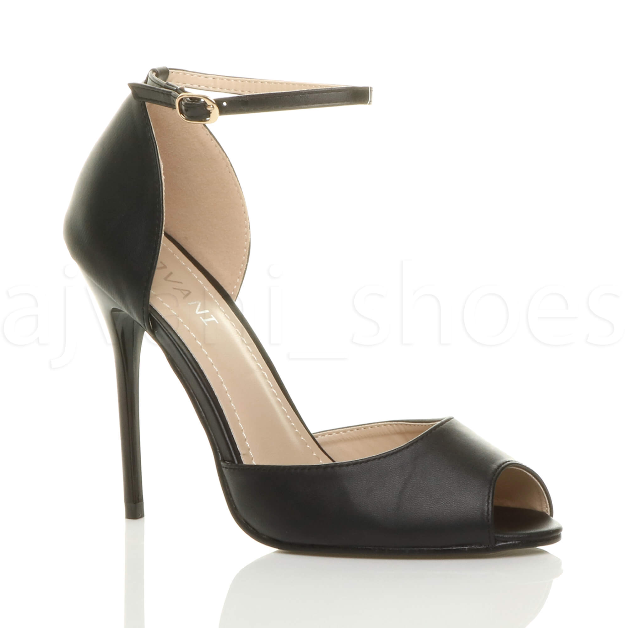 Simple NEW WOMENS STILETTO SANDALS LADIES ANKLE STRAP HIGH HEEL SANDAL SHOES