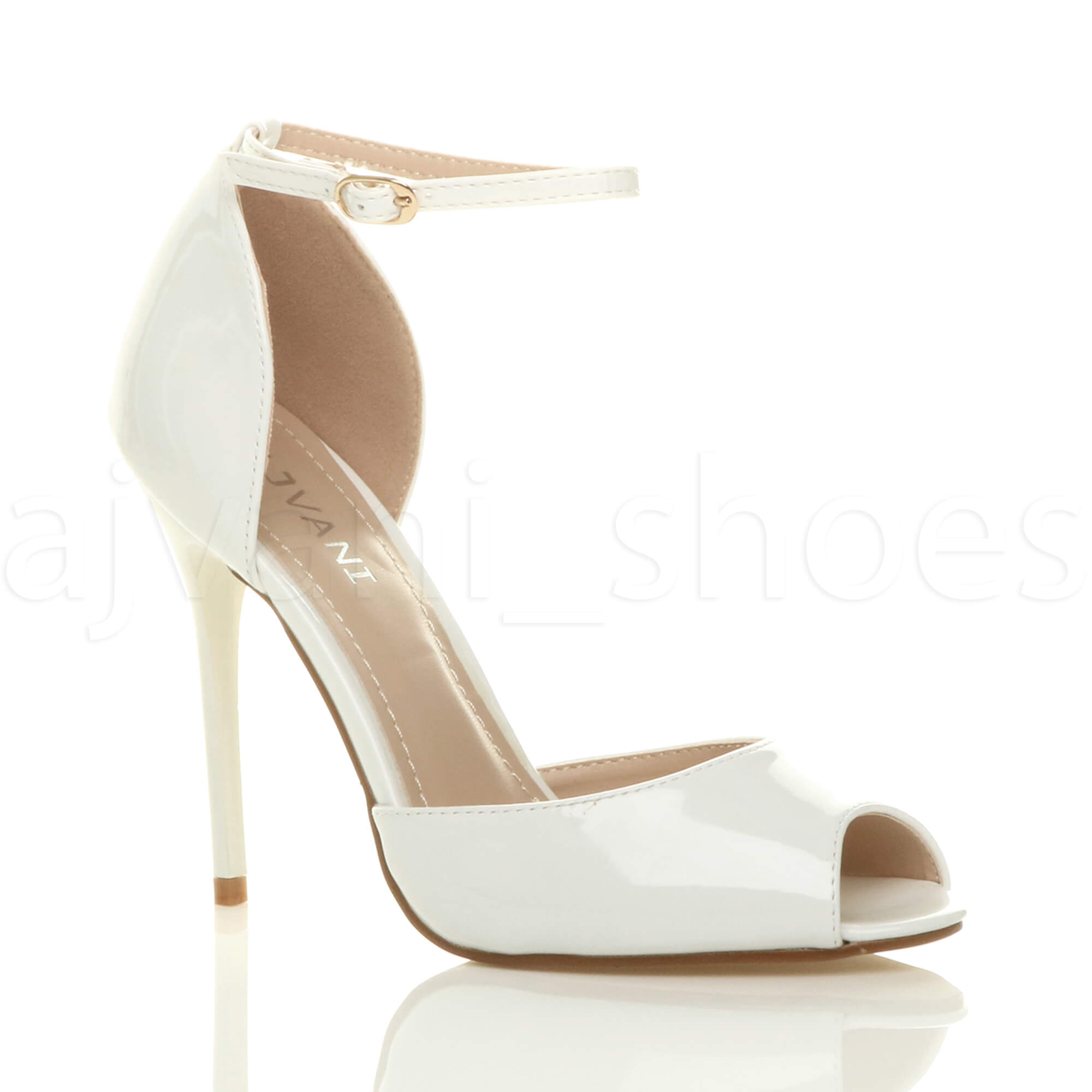 Peep Toe Bridal Shoes With Strap