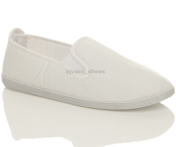 MENS-SLIP-ON-FLAT-CASUAL-PLIMSOLES-DECK-PLIMSOLLS-PUMPS-CANVAS-SHOES-SIZE
