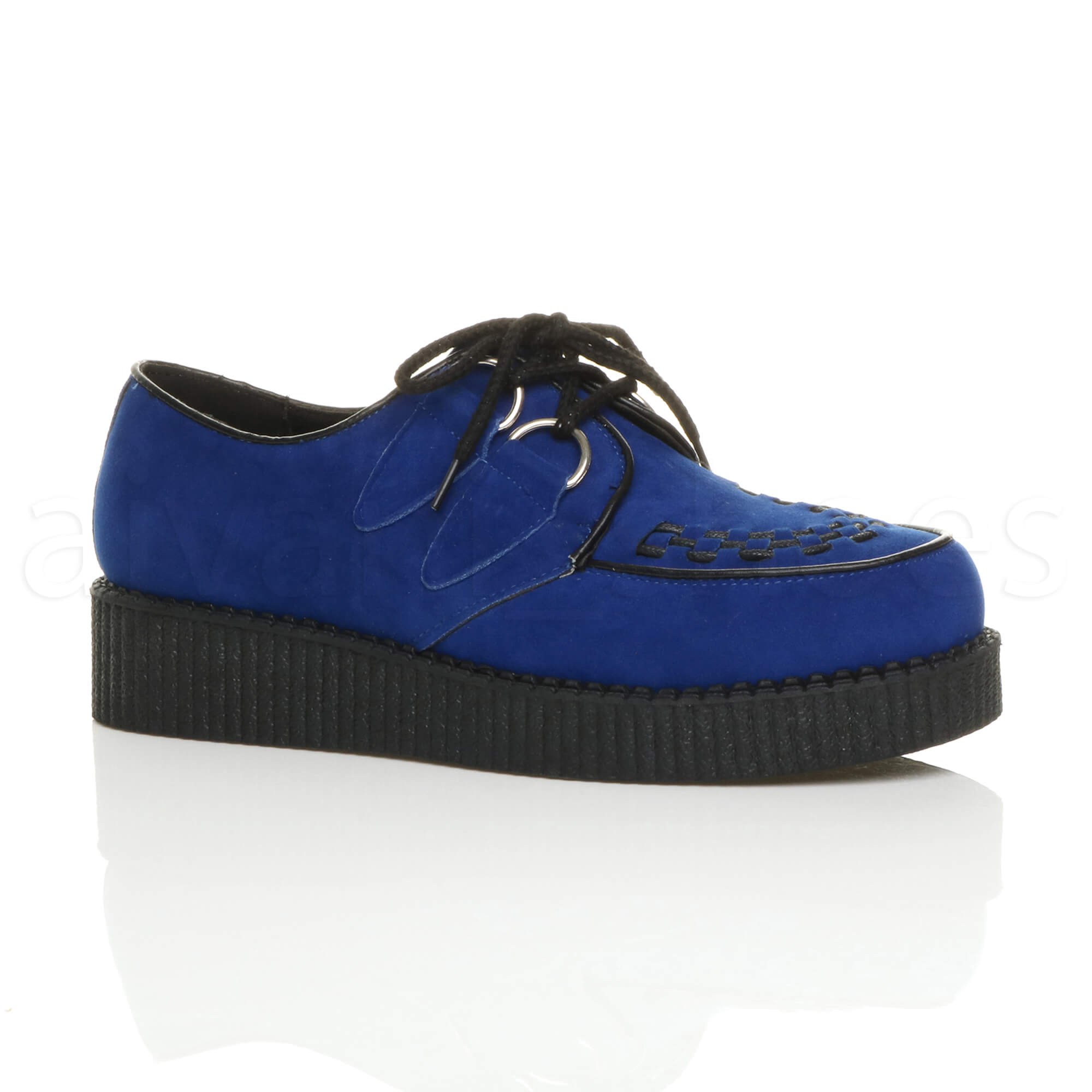 Blue Suede Wedge Shoes Size