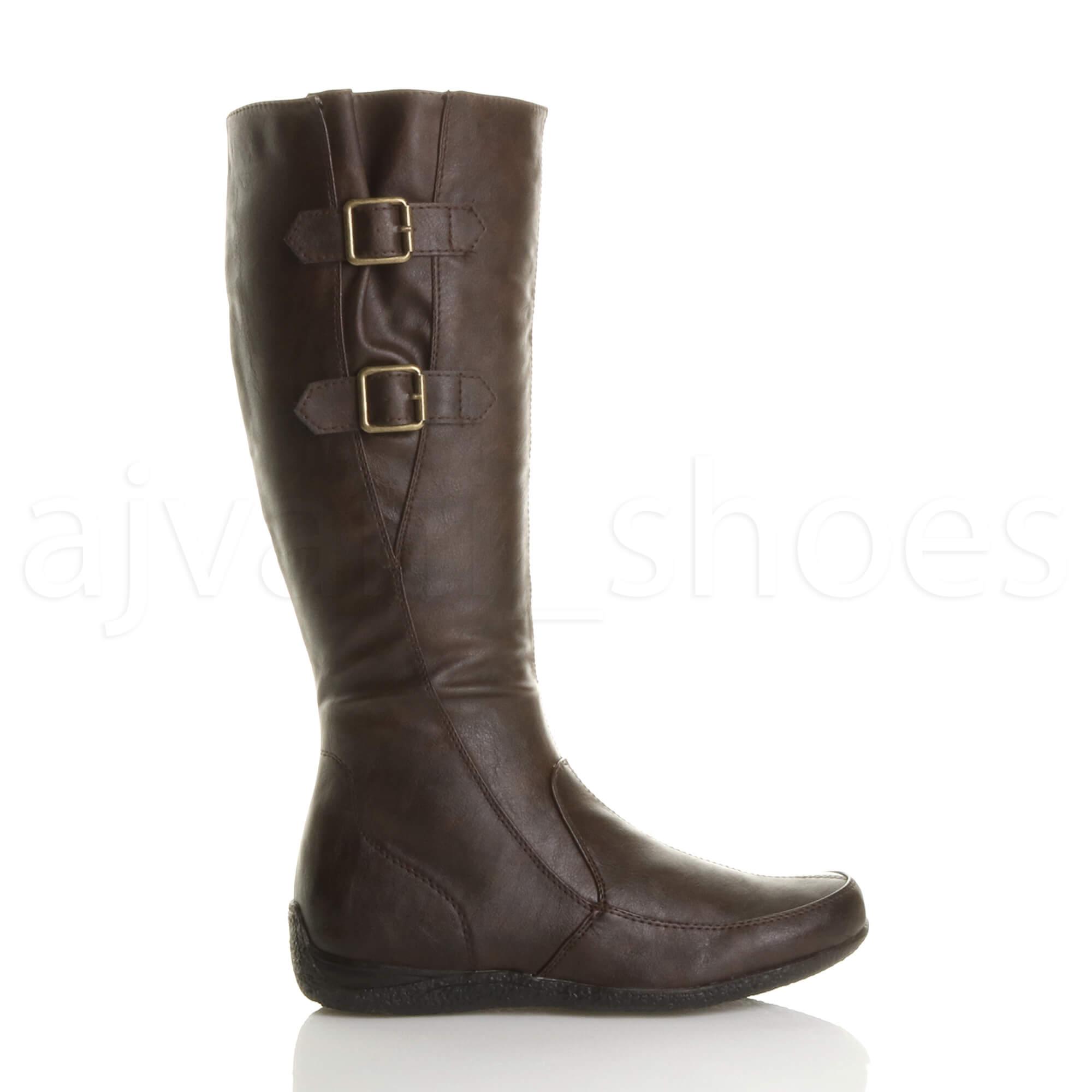 womens low heel concealed wedge winter buckle