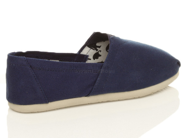 mens flat espadrilles canvas slip on plimsoles pumps deck