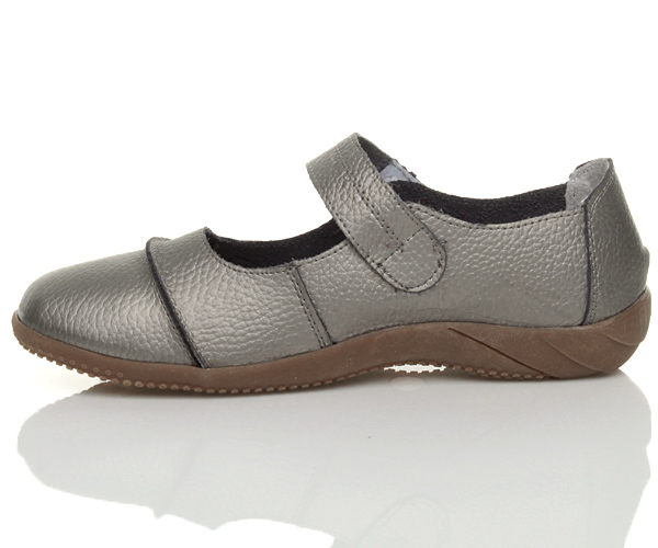 WOMENS-LADIES-LEATHER-COMFORT-VELCRO-WALKING-CASUAL-SANDALS-MARY-JANE-SHOES-SIZE