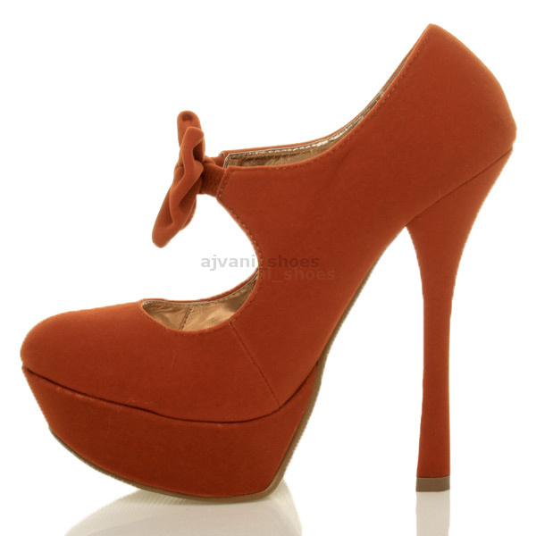 WOMENS-LADIES-60-039-S-70-039-S-STYLE-RETRO-PLATFORM-PUMPS-HIGH-HEEL-BOW-COURT-SHOES