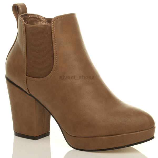WOMENS-LADIES-HIGH-HEEL-BLOCK-PLATFORM-ANKLE-LOW-CHELSEA-BOOTS-BOOTIES-SIZE