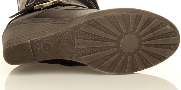 Femmes moyen talon compensée fourrure doublée hiver genou mollet pointure
