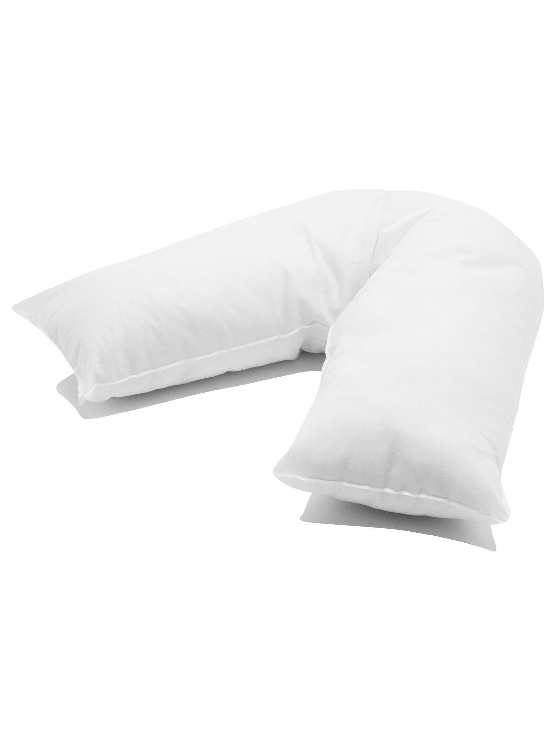 Image of Homeware hollowfibre v shape firm support pillow - White