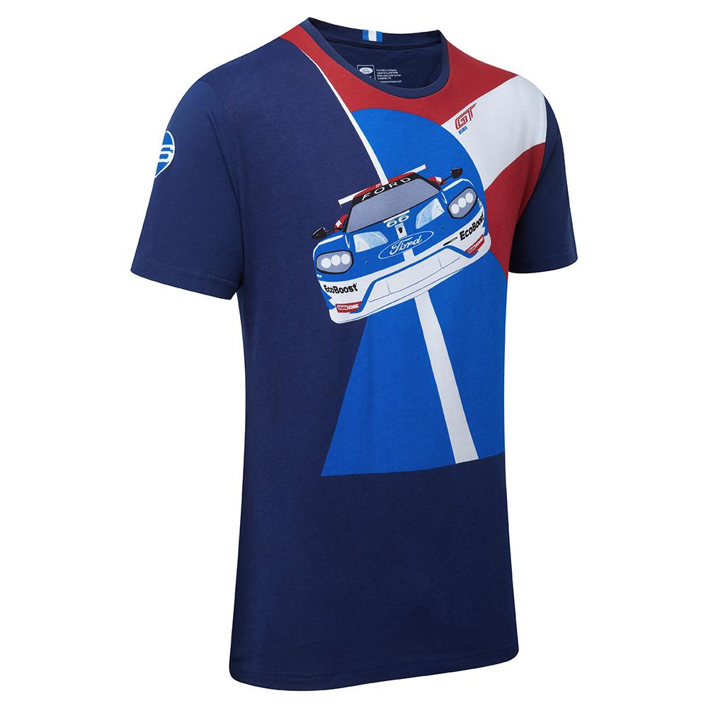 ford performance car t shirt men 39 s top blue motorsport ebay. Black Bedroom Furniture Sets. Home Design Ideas