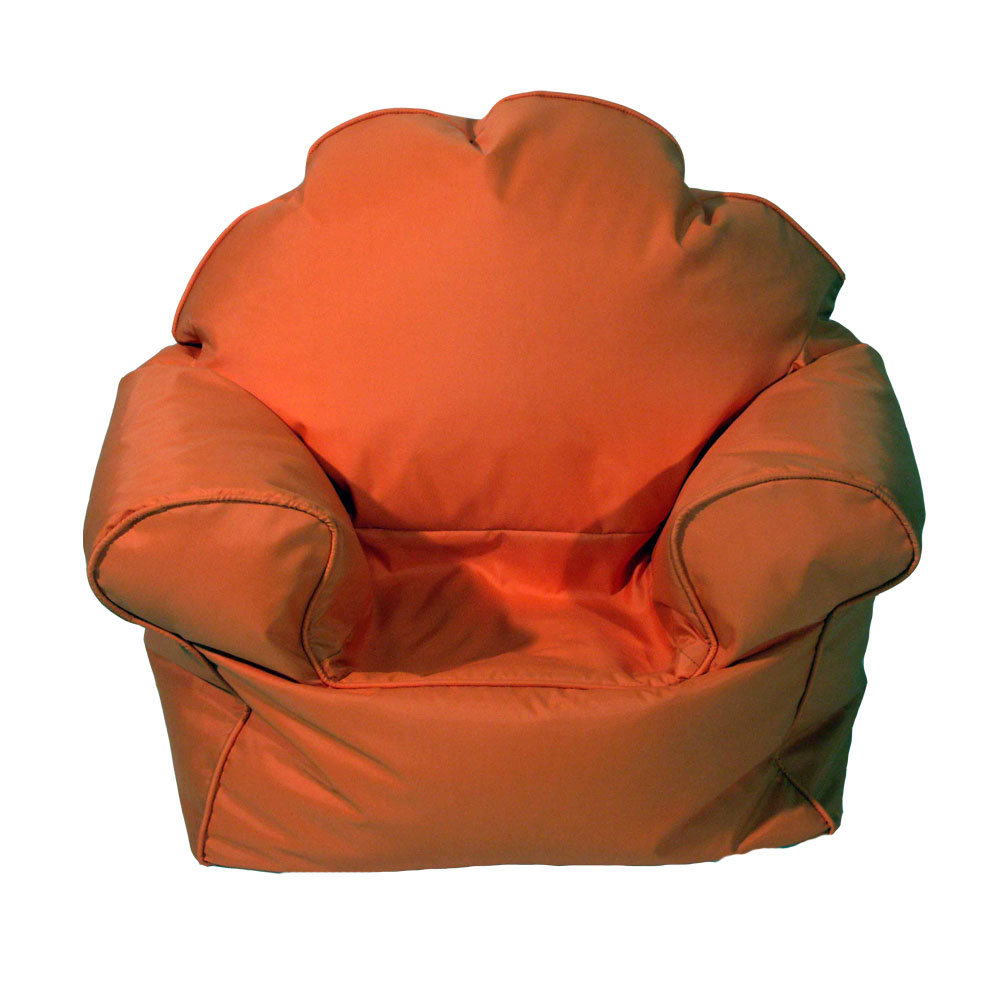 Childrens bean bag chairs beanbags for kids many for Orange kids chair