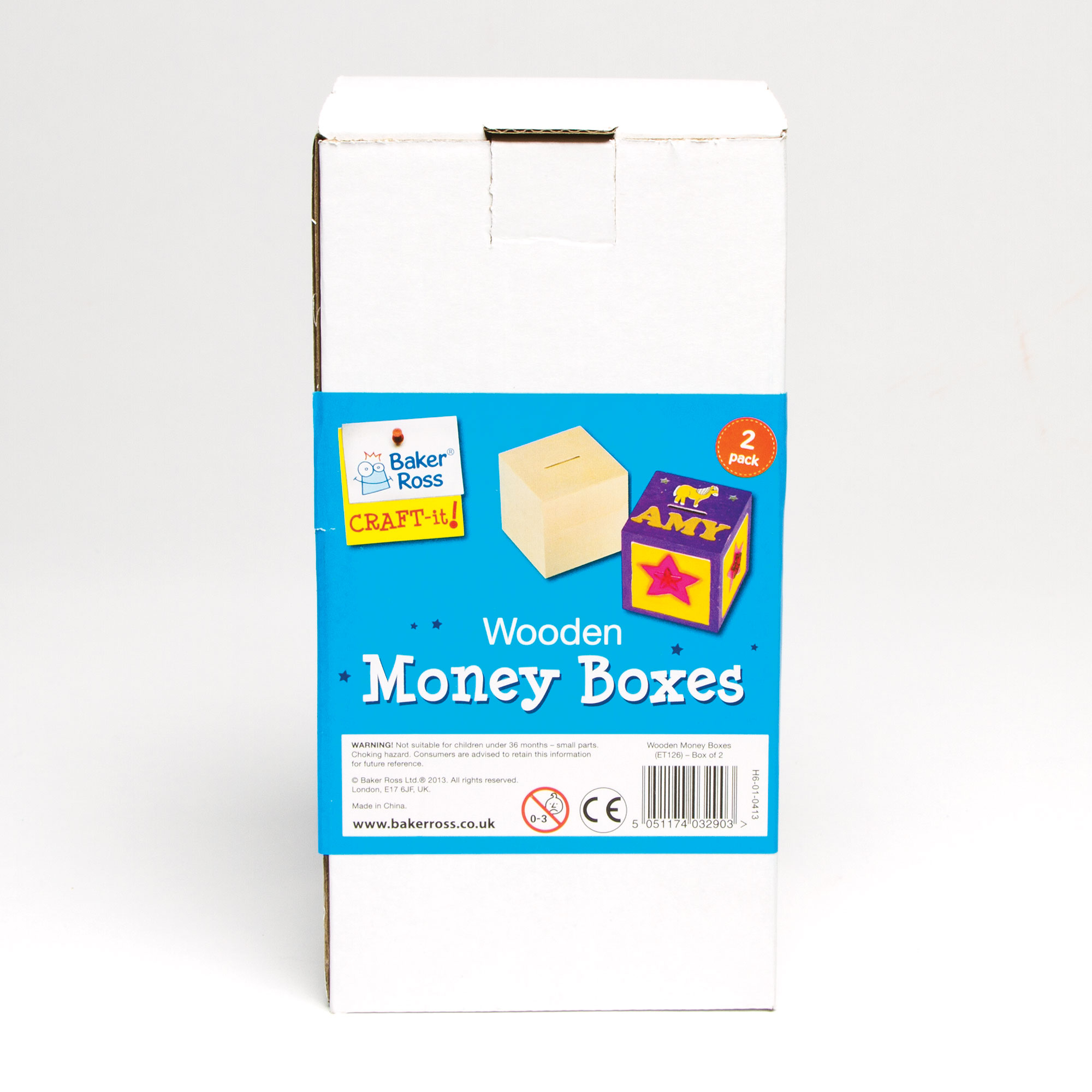 Wooden cube money boxes for kids to paint decorate for How to decorate a money box