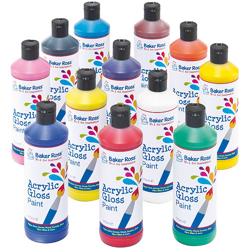 Acrylic Water Based Paint Kids Painting Essentials Pack A 6 X 175ml