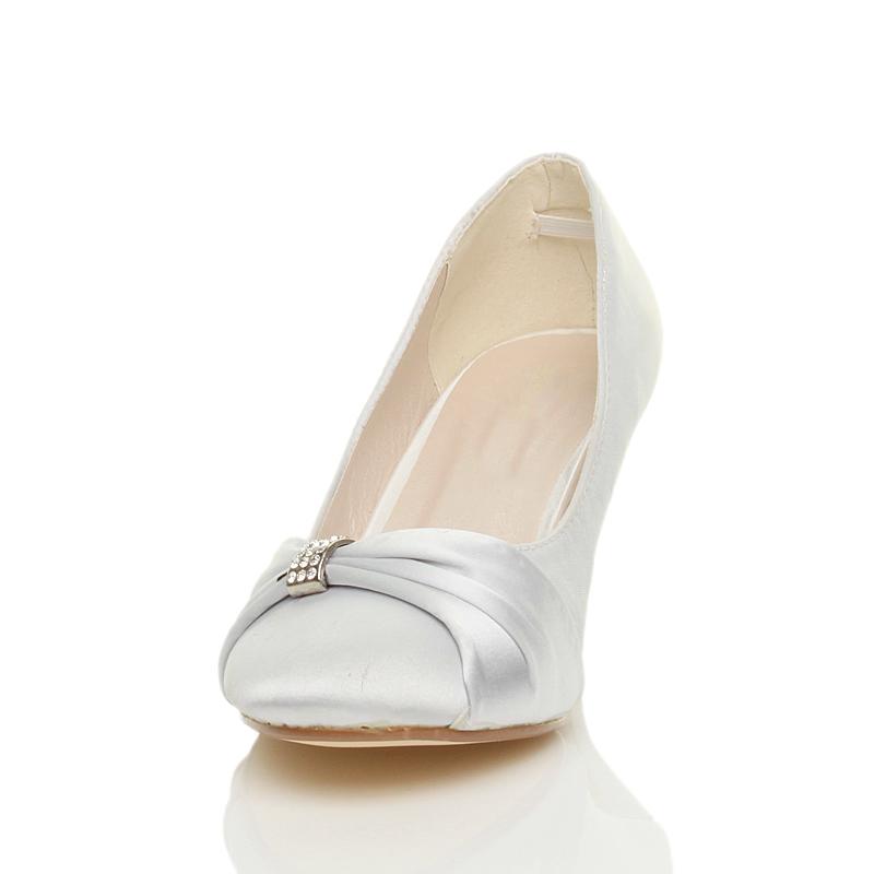 womens low mid heel evening wedding bridesmaid prom