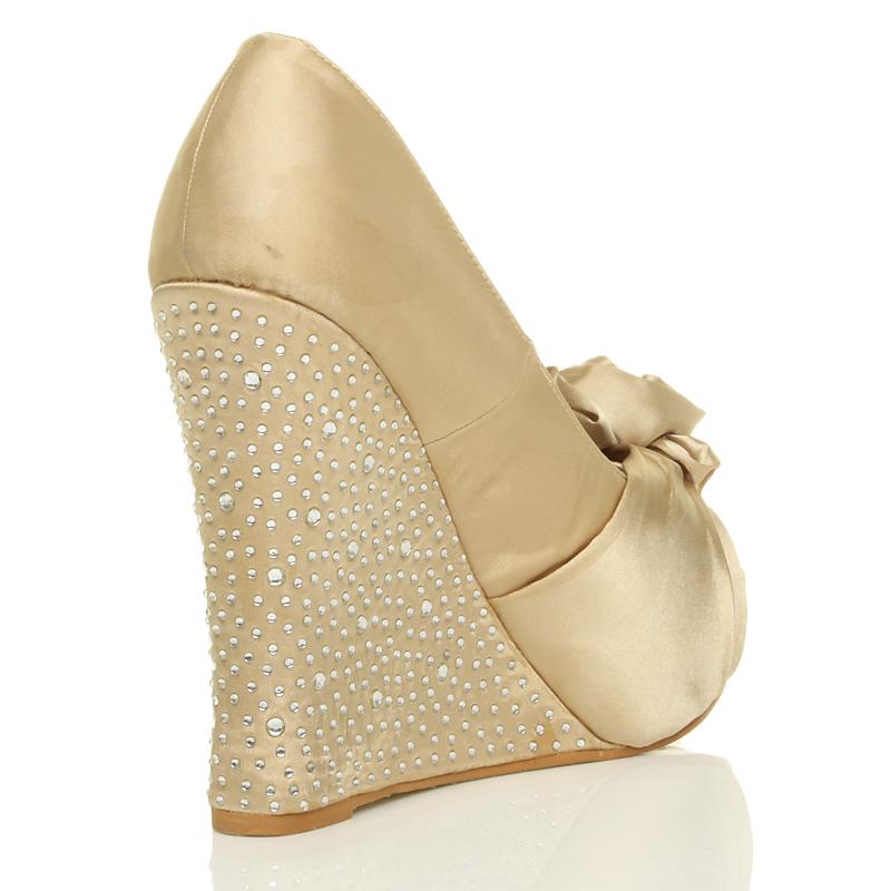 womens wedding platform wedge bridal sandals