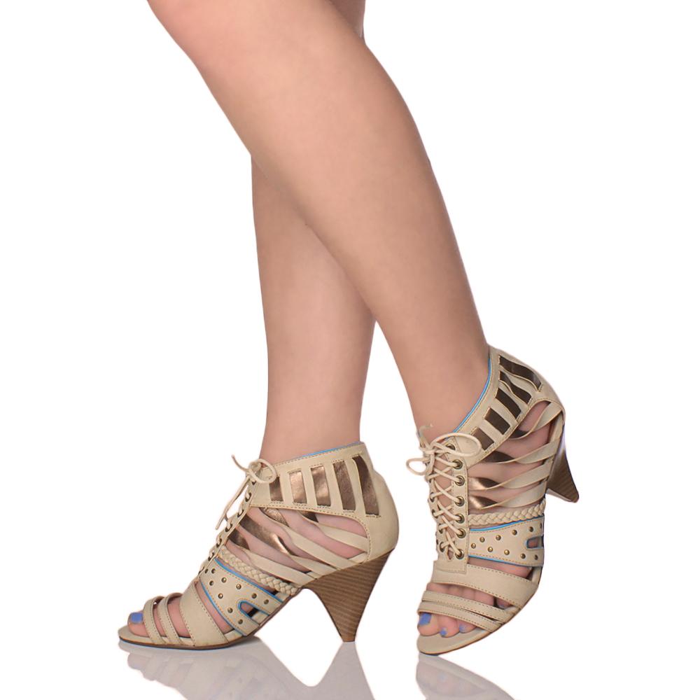 96da77157c02f5 Lace Up Heel Sandals Size 11