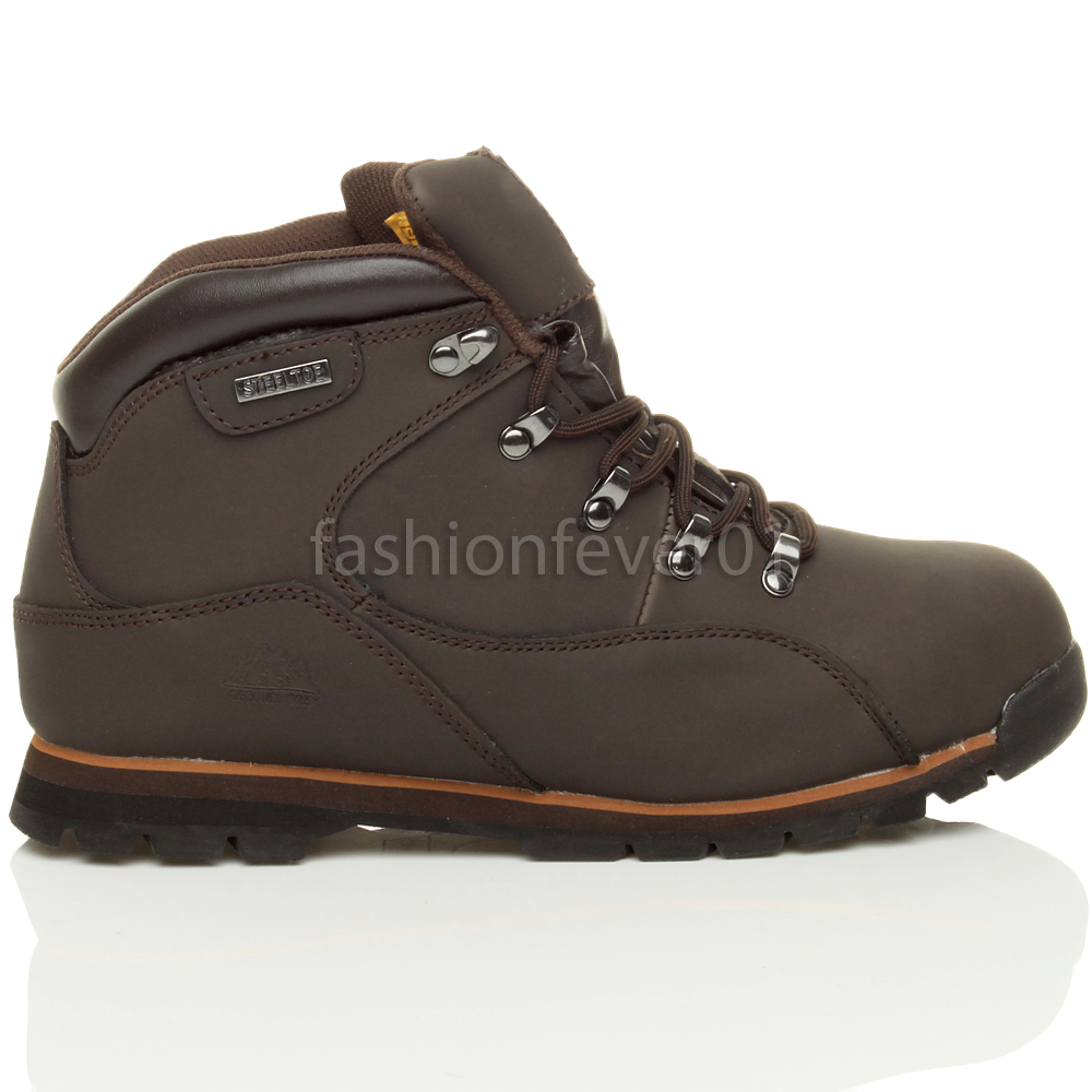mens work safety shoes steel toe cap boots size 8 42 ebay