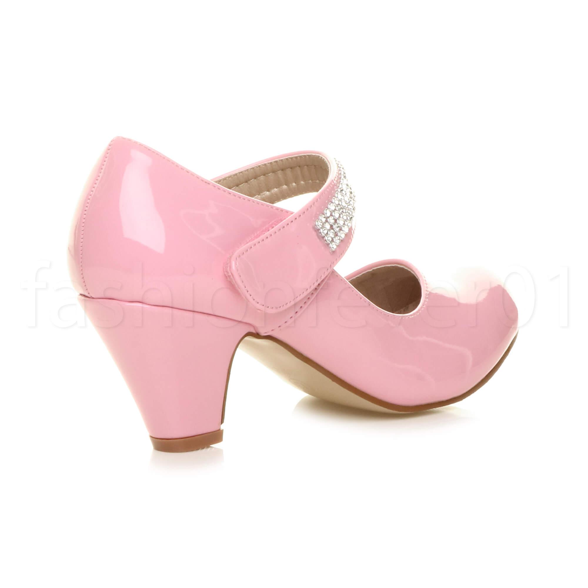 childrens heel bow princess bridesmaid