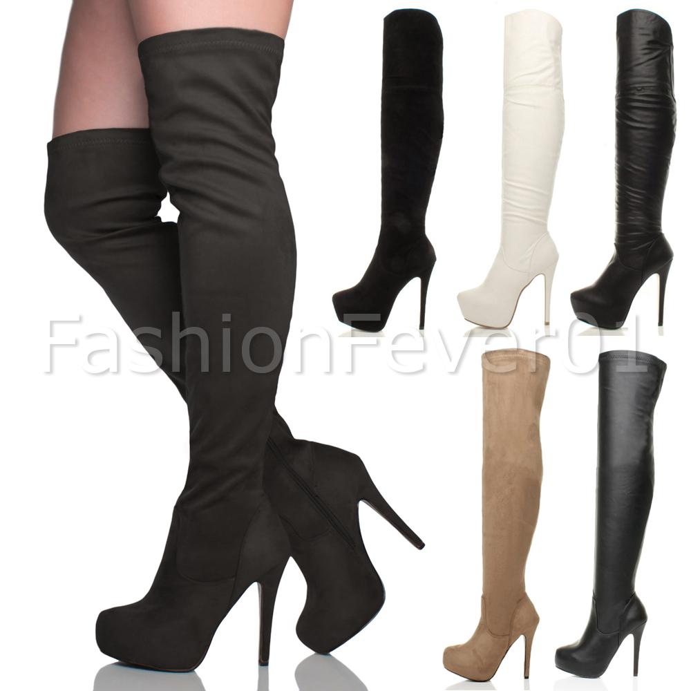 womens high heel stilleto platform the knee