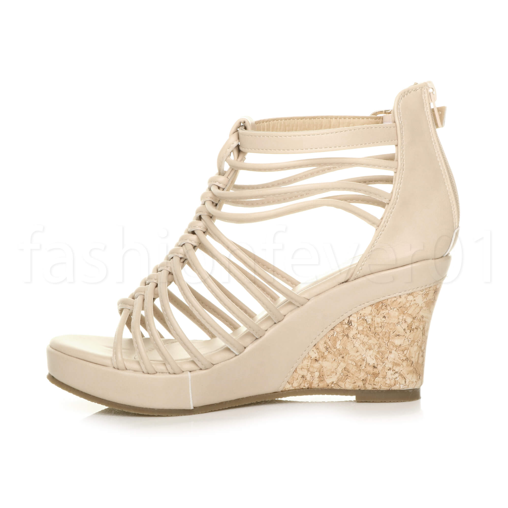 Fantastic Details About WOMENS LADIES SILVER GLADIATOR WEDGE SANDALS SIZES 38