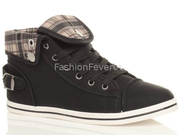 WOMENS-LADIES-GIRLS-FLAT-HIGH-HI-TOP-PUMPS-SNEAKERS-TRAINERS-SHOES-SIZE
