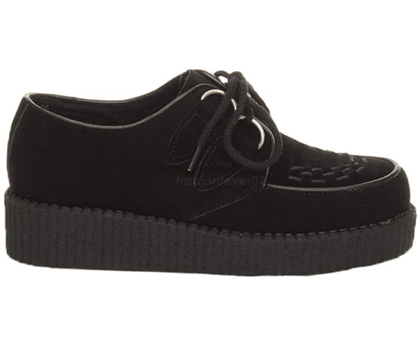 MENS-FLAT-BLACK-PLATFORM-TEDDY-BOY-LACE-UP-GOTH-PUNK-CREEPERS-SHOES-BOOTS-SIZE