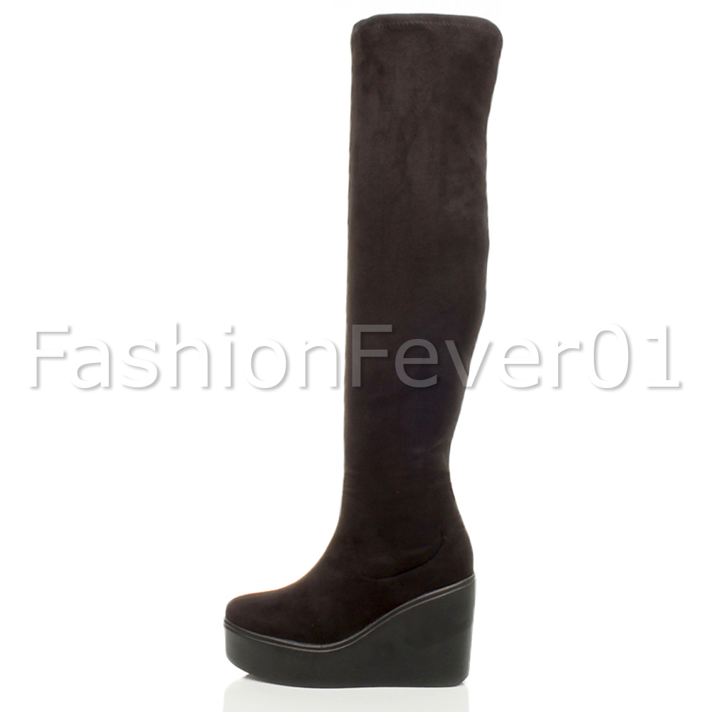 WOMENS-LADIES-CHUNKY-PLATFORM-HIGH-WEDGE-THIGH-HIGH-OVER-THE-KNEE-BOOTS-SIZE