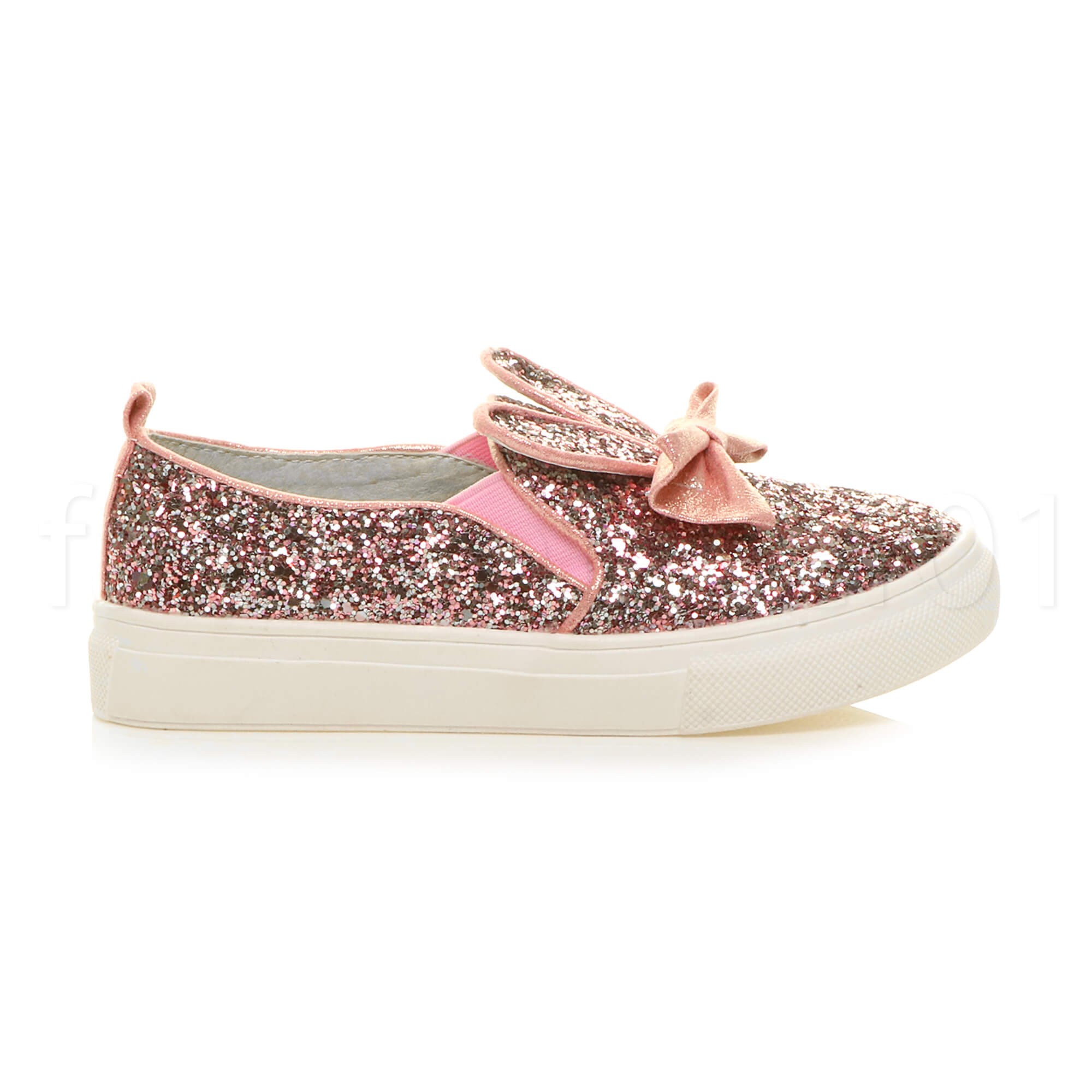 GIRLS KIDS CHILDRENS SPARKLY SEQUIN GLITTER PARTY PLIMSOLLS TRAINERS SHOES SIZE