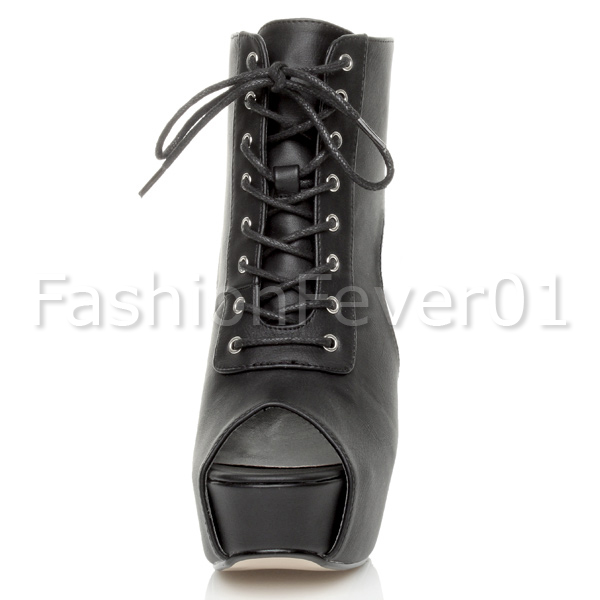 WOMENS-LADIES-PLATFORM-BLOCK-HIGH-HEEL-LACE-UP-CUT-OUT-PEEP-TOE-SHOES-BOOTS-SIZE