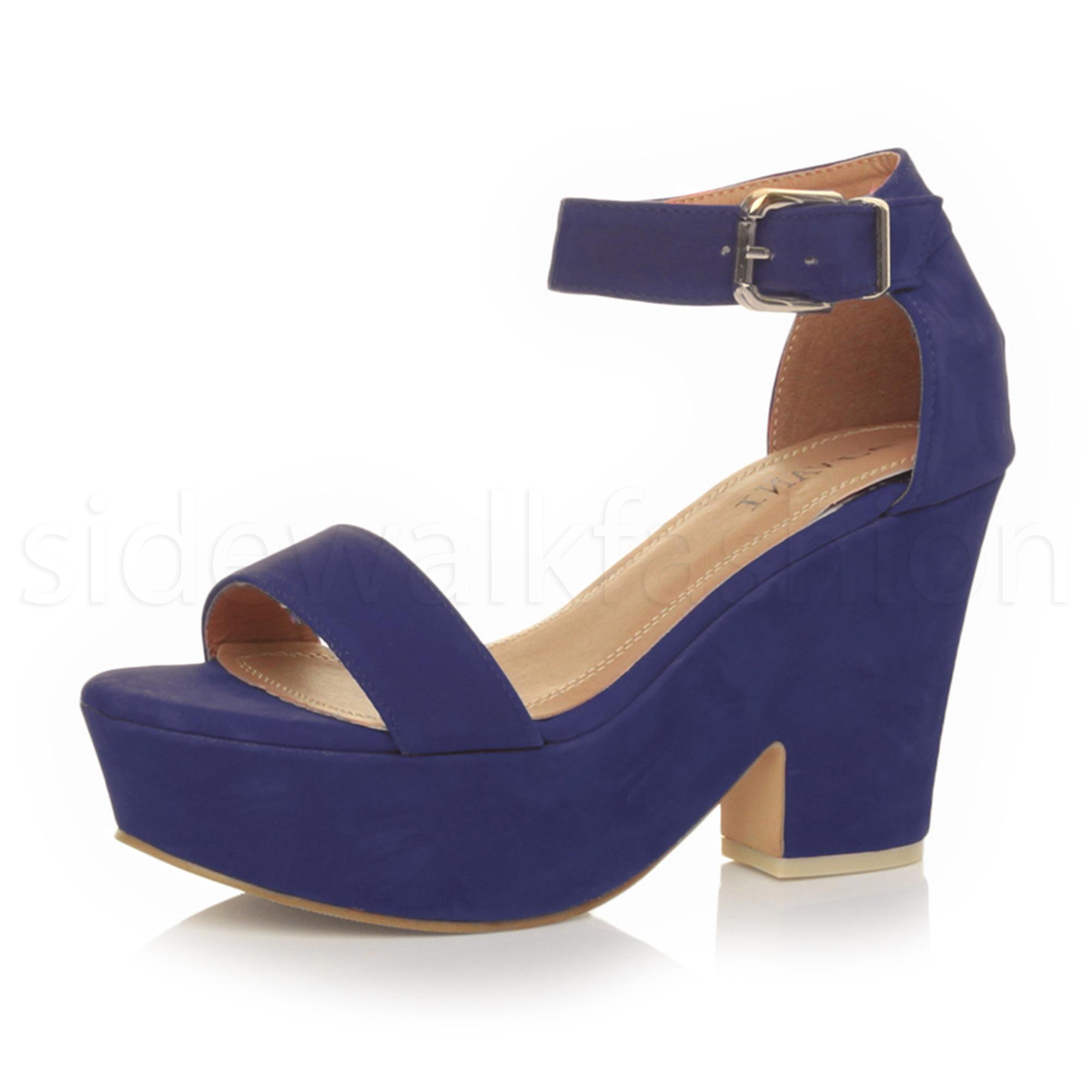 Cobalt Blue Wedge Shoes Uk