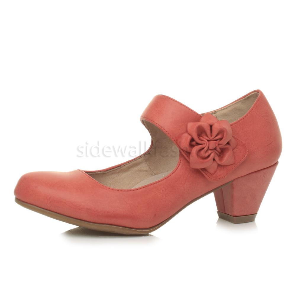 Womens Leather Maryjane Shoes