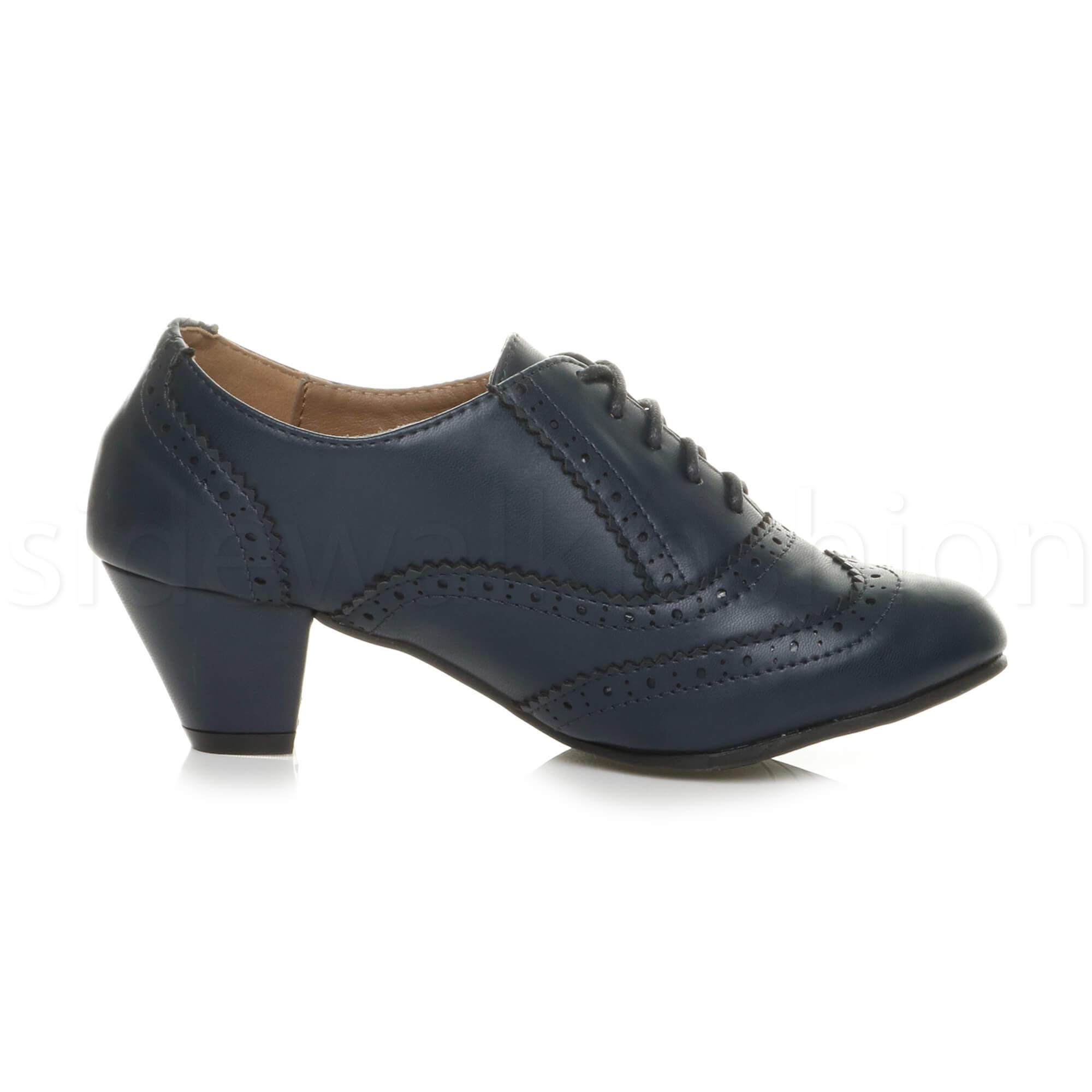 Block Heel Oxford Shoe