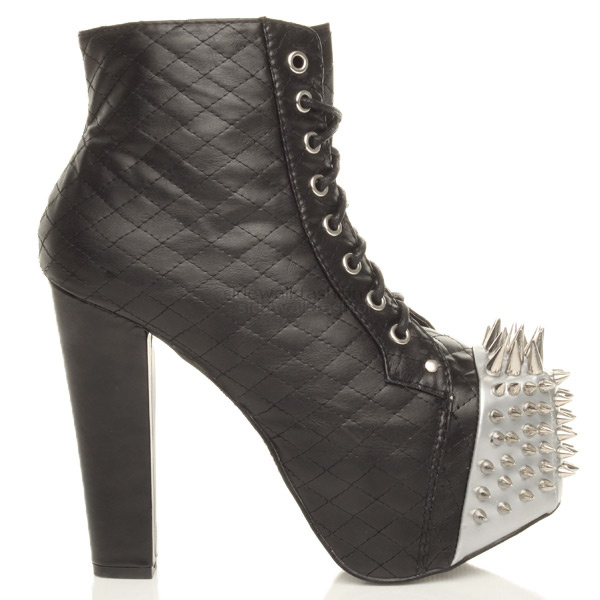 WOMENS-LADIES-HIGH-BLOCK-HEEL-PLATFORM-ZIP-LACE-UP-ANKLE-BOOTS-BOOTIES-SIZE