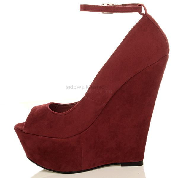Womens-ladies-high-heel-platform-peep-toe-ankle-strap-wedge-shoes-size
