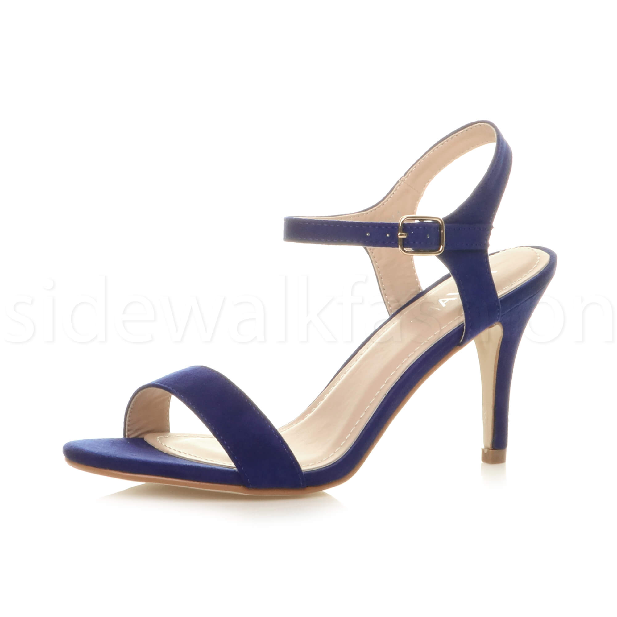 womens high heel ladies strappy evening prom simple party shoes sandals size ebay. Black Bedroom Furniture Sets. Home Design Ideas