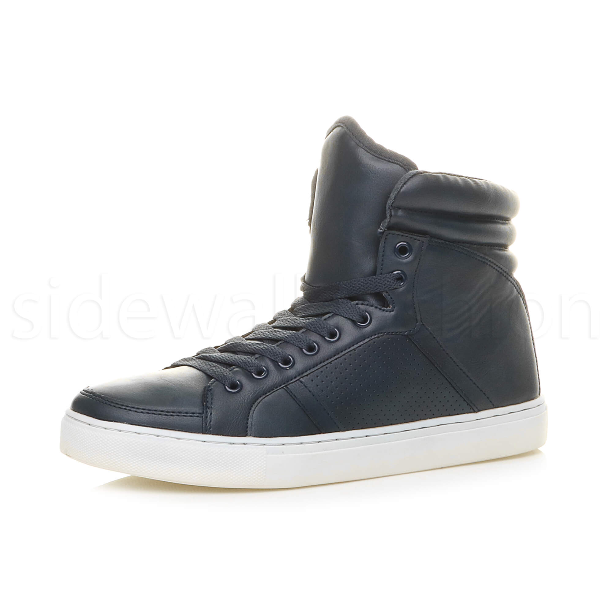 Mens Boys Hi High Top Flat Casual Lace Up Trainers Ankle Boots Shoes Size | EBay