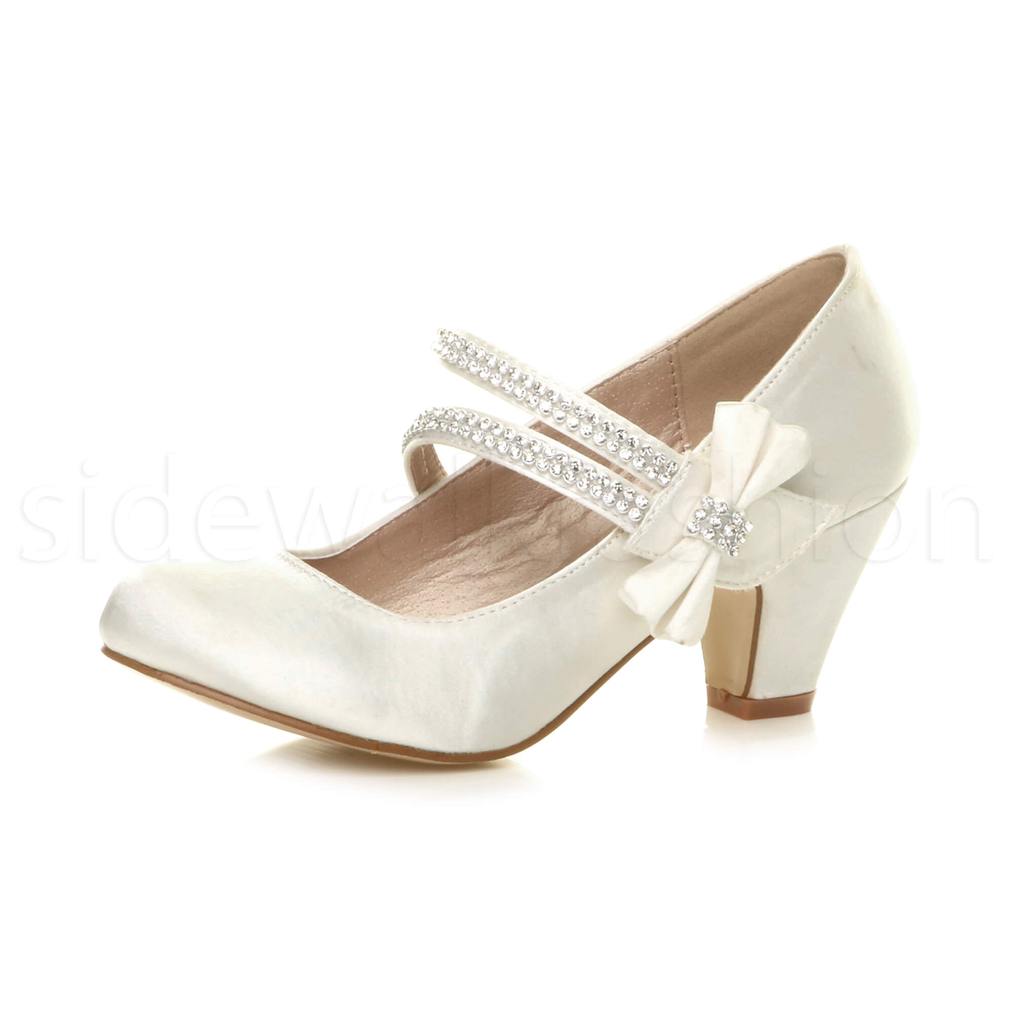 Mary Jane Court Shoes Low Heel