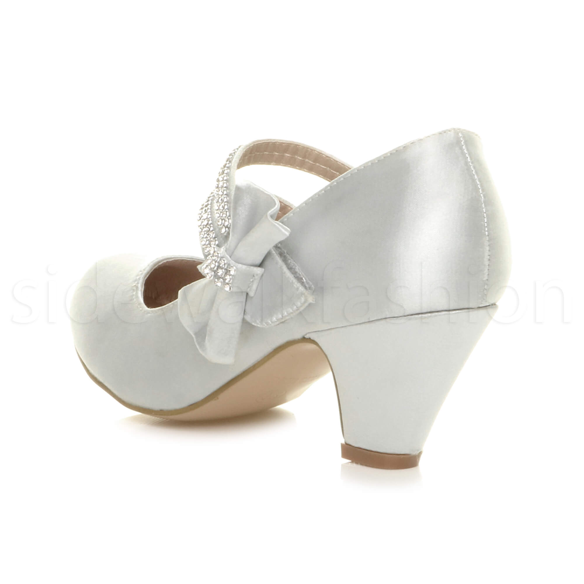 GIRLS-KIDS-CHILDRENS-LOW-HEEL-PARTY-MARY-JANE-STYLE-HOOK-LOOP-SANDALS-SHOES-SIZE