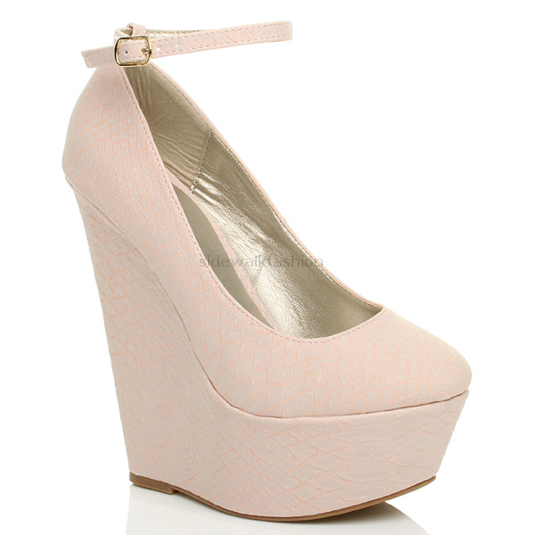 WOMENS-LADIES-HIGH-HEEL-WEDGE-PLATFORM-FULL-TOE-ANKLE-STRAP-SHOES-SIZE