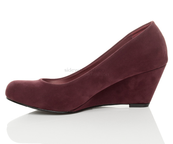 WOMENS-LADIES-LOW-MID-HEEL-WEDGE-ROUND-TOE-SMART-WORK-COURT-SHOES-SIZE