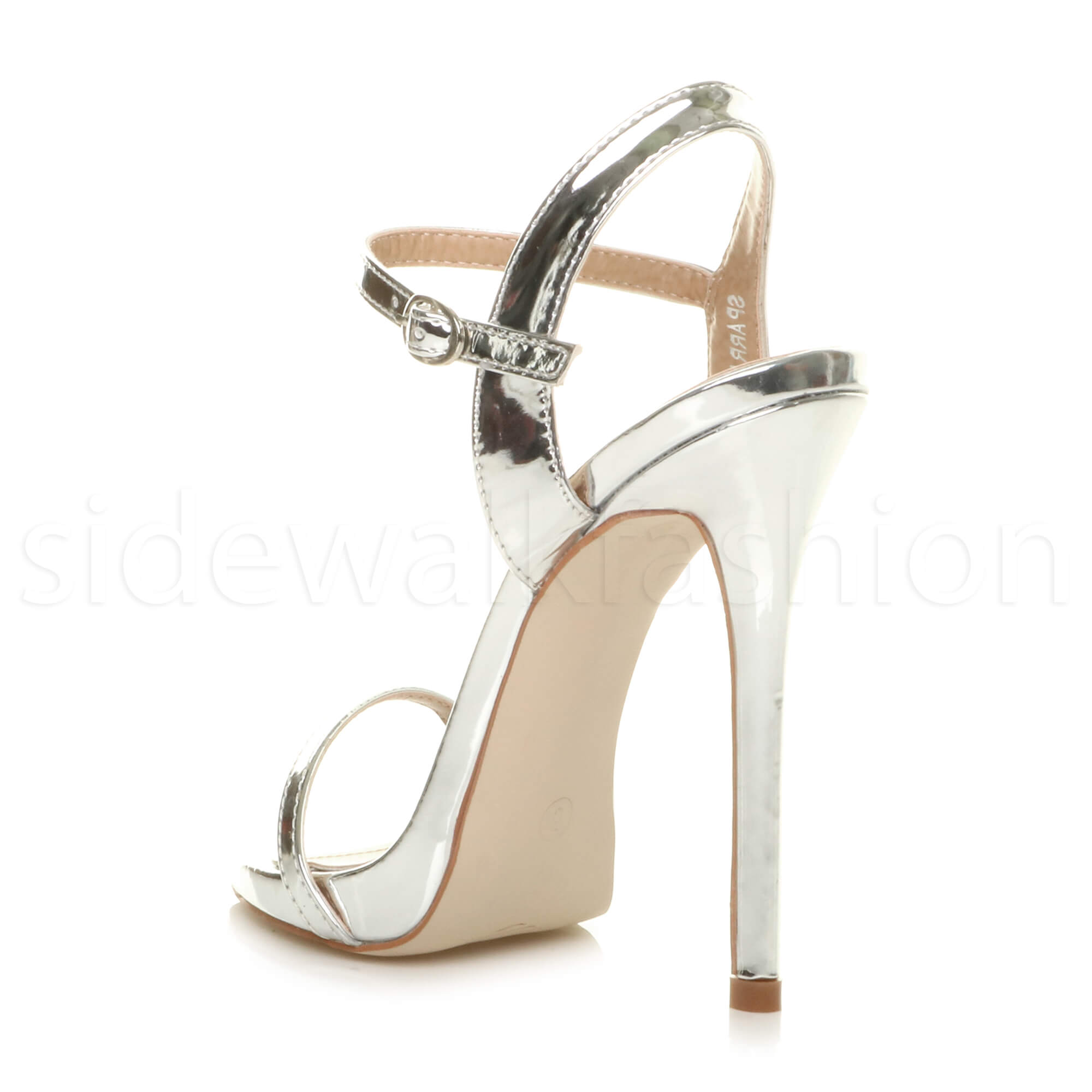 Womens ladies high heel party evening barely there platform sandals size
