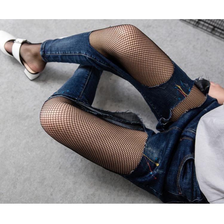 Women Ladies Fishnet Tights Net Pattern Burlesque Hoise Black Pantyhose Stocking