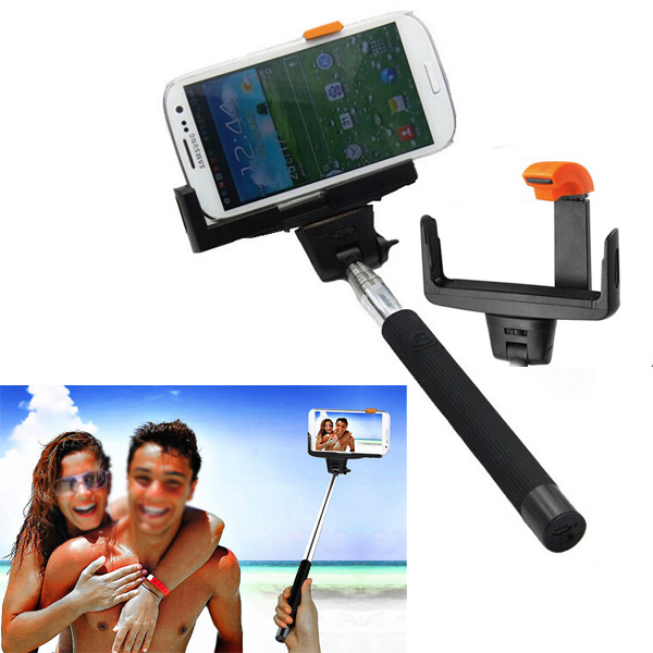 selfie stick monopod extendable bluetooth self portrait for iphone 4 5 4s 5s. Black Bedroom Furniture Sets. Home Design Ideas