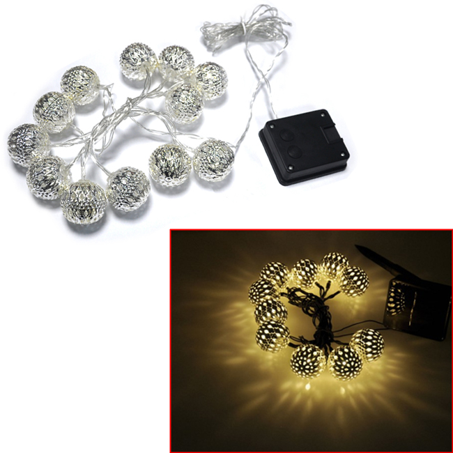 1 Set of 12 Moroccan Pretty Solar Power String Lanterns LED Fairy Lights Outdoor