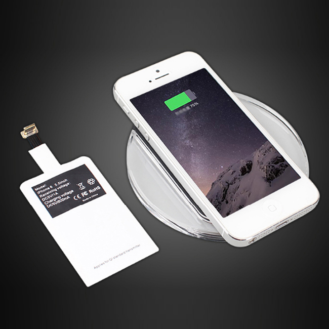 Iphone 6 And Iphone 6s Wireless Charging: Qi Wireless Charger Charging Pad + Receiver For IPhone 6S