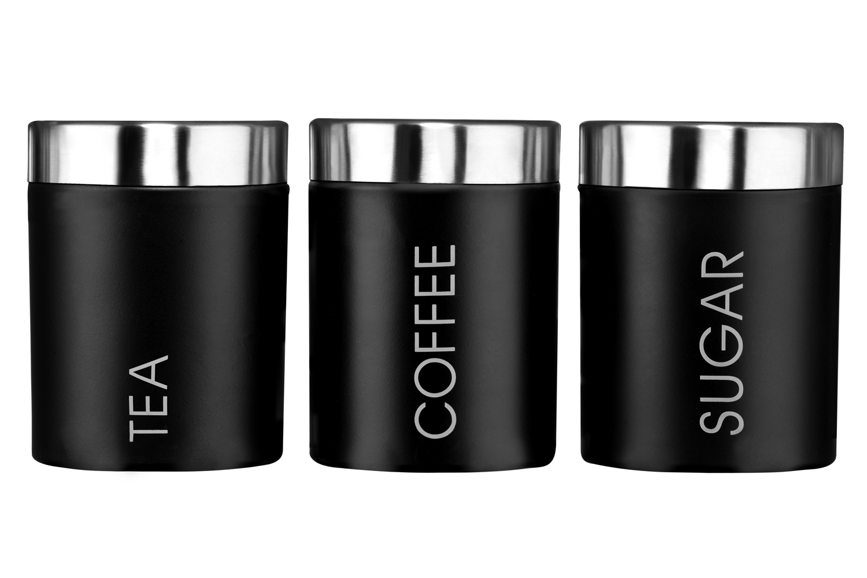 premier housewares tea coffee sugar canisters storage jar. Black Bedroom Furniture Sets. Home Design Ideas