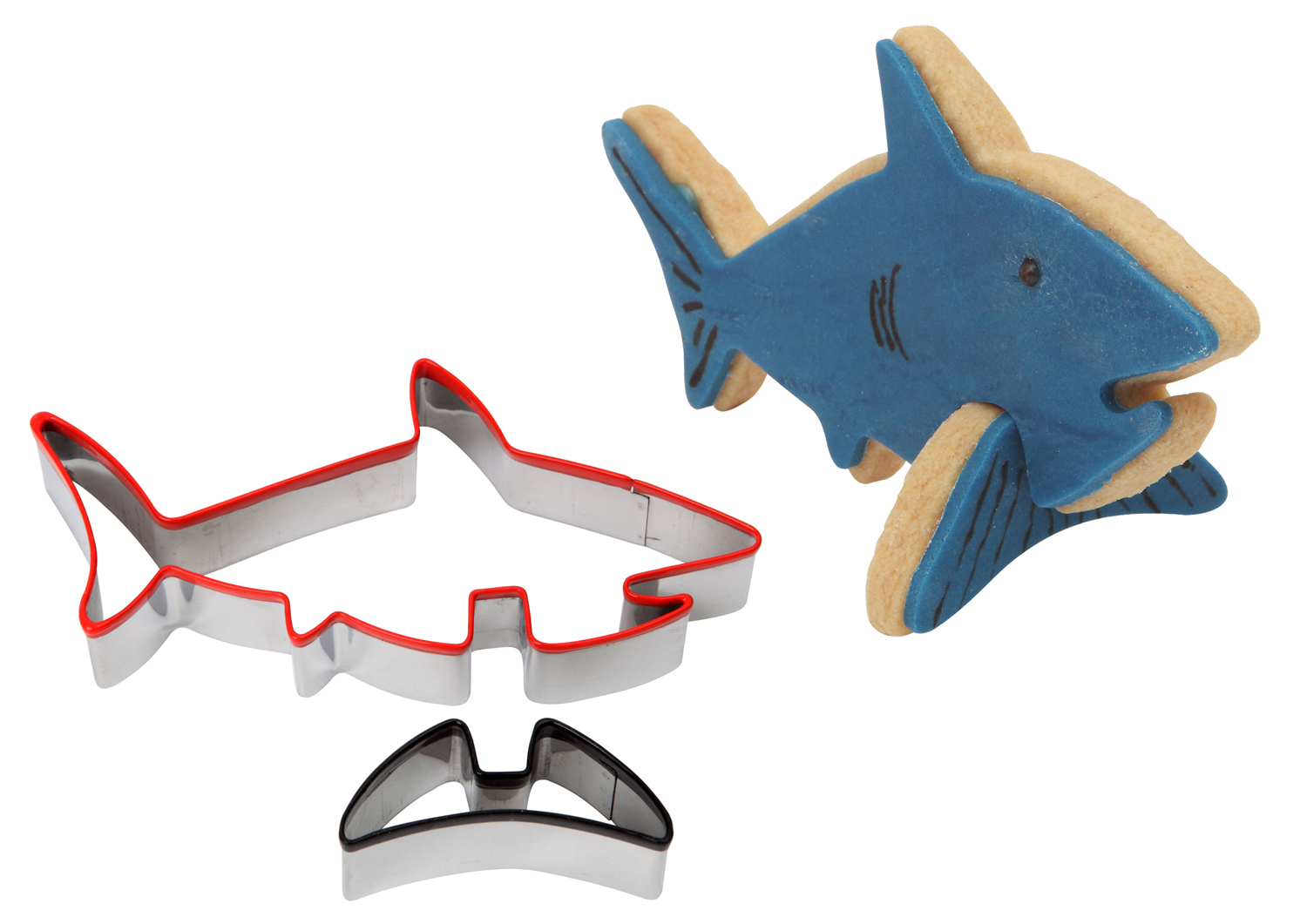 Dexam Make Bake 3d Shark Cookie Biscuit Cutter Set
