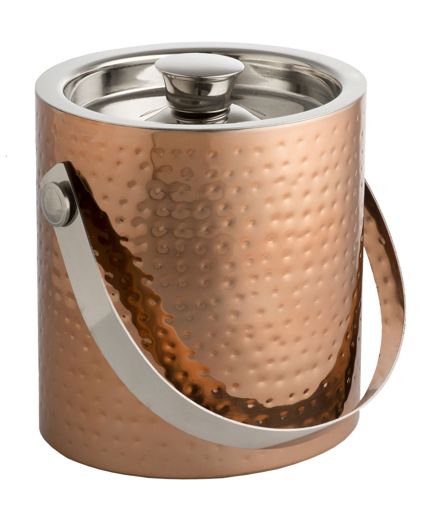 Epicurean Ice Bucket C W Lid Amp Tongs Hammered Copper