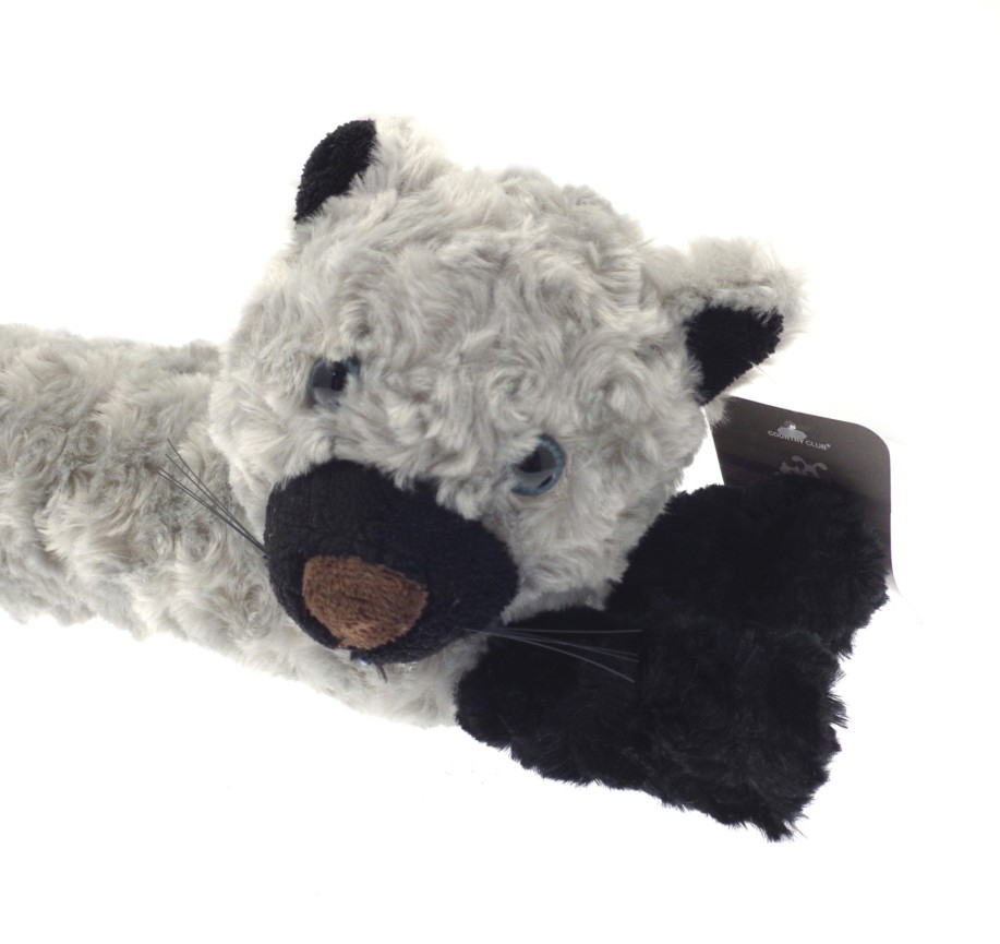 Country club grey cat microfleece draught excluder draft for Front door draft stopper